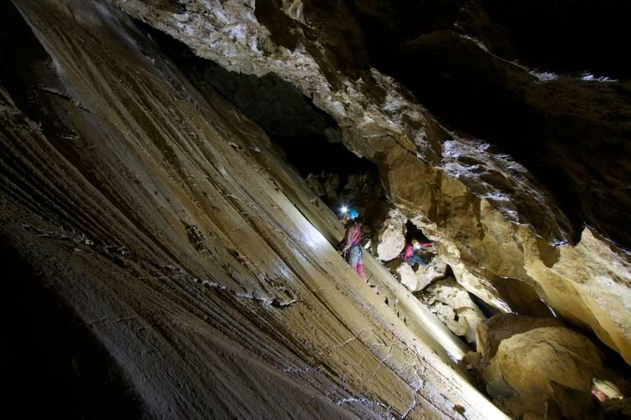Grotta Palpiccola, specchio di faglia